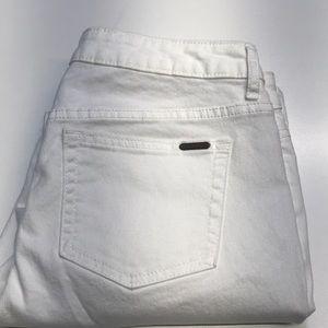 JENNIFER LOPEZ Womens 8 White Capri Jeans